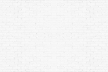 Old white brick wall texture for background. Abstract horizontal architecture wallpaper.