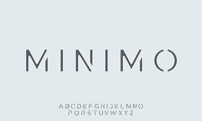 minimo. the minimal alphabet. display font vector typeset