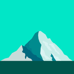 route on mountain vector illustration with placr for text