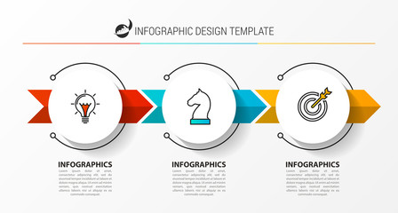 Wall Mural - Infographic design template. Creative concept with 3 steps.