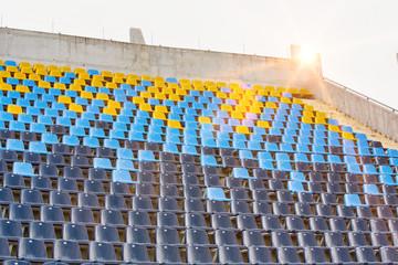 Foto auf Leinwand Stadion Photo of stadium seats