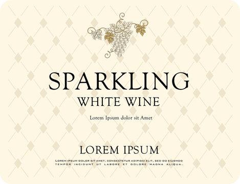 WINE LABEL SPARKLING PROSECCO AND RED WINE AMARONE