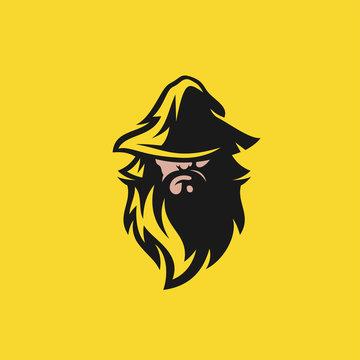 wizard logo design vector illustration
