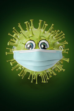 virus protects itself against flu protection with a mask
