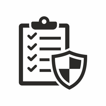 Insurance policy icon. Vector icon isolated on white background.
