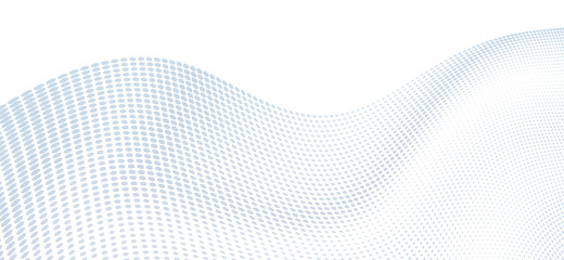 Dotted wavy surface. Simple vector graphics