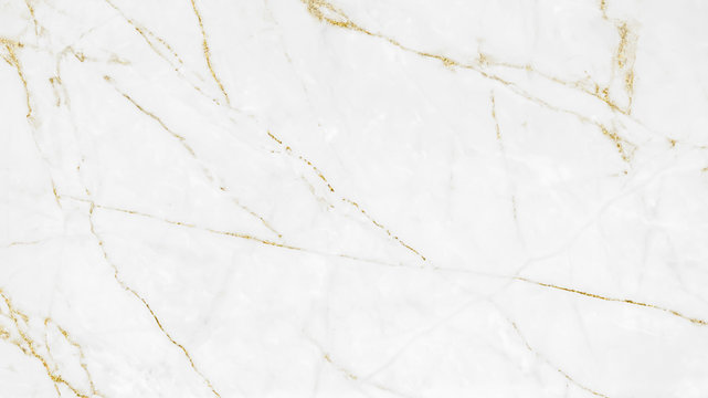 White and gold marble grunge texture crack pattern background.