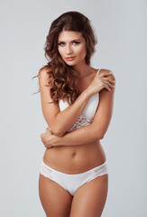 Pretty elegant lady in beautiful lingerie