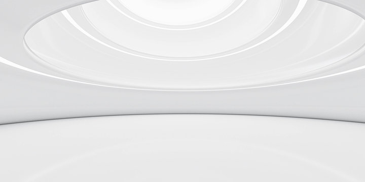 modern futuristic abstract white architecture background 3d render illustration with day lighting