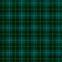 seamless pattern background of green plaid fabric texture, can be tiled