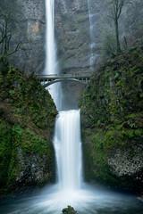 Multnomah Falls in the Columbia Gorge, Oregon, Taken in Winter