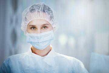 Surgical nurse portrait.