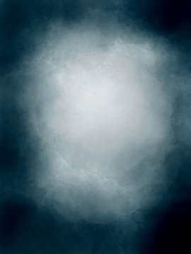 Navy blue watercolor background for a photo studio. Portrait backdrop light to the center.