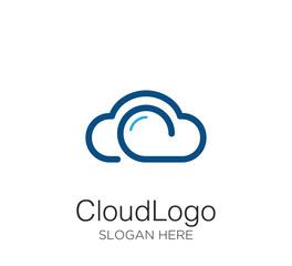 cloud logo vector design template