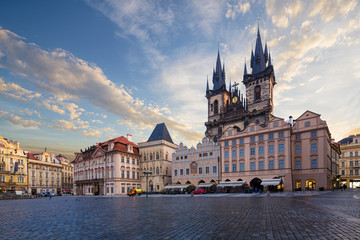 Wall Mural - The Church of Our Lady before Tyn in the Old Town Square, Prague, Czech Republic, Europe.
