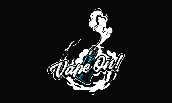 Vapor logo illustration isolated on black background