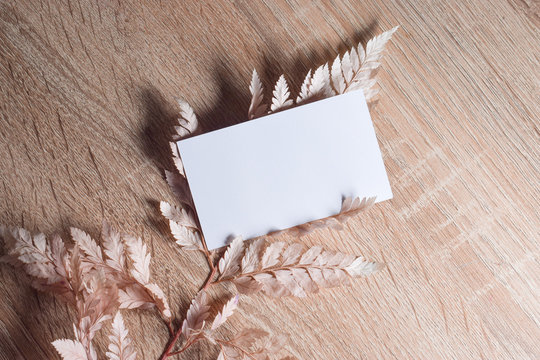 blank cards on rich background can be used for mock up in beauty and wedding