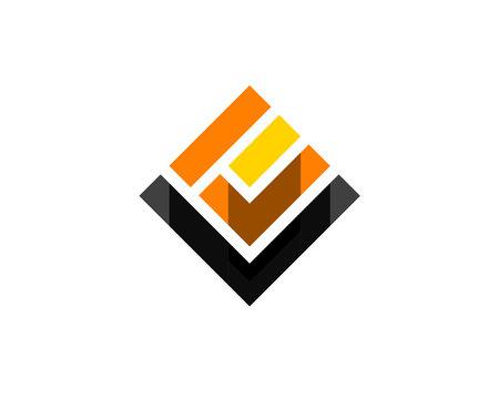 square rotate diagonal monogram anagram lettermark logo of letter L E C U W I J Y V