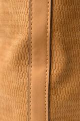 Foto auf Leinwand Leder brown leather close up