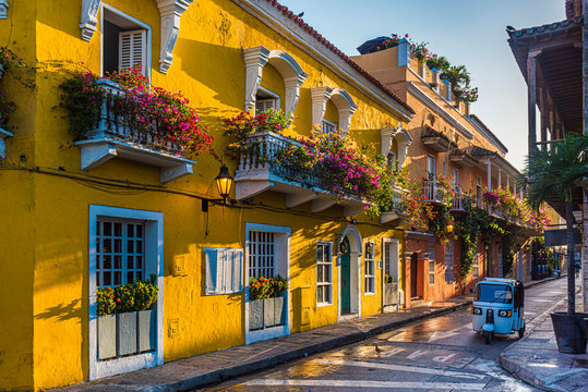 street in old town Cartagena, Colombia