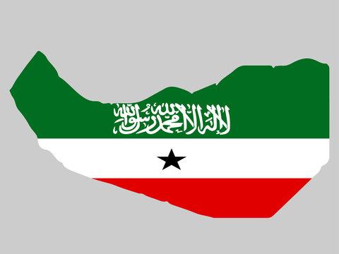 Republic of Somaliland Map flag Vector