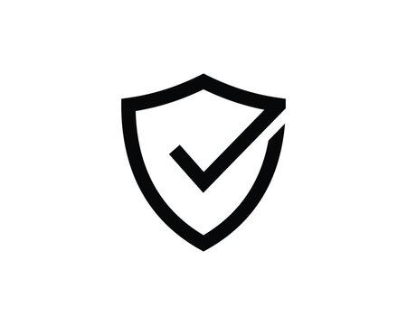 Shield Check Mark Icon Vector Illustration