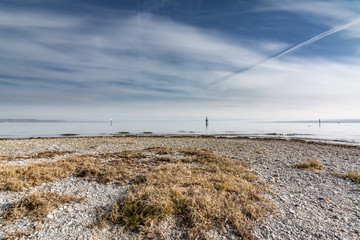 Winter beach at Lake Constance in Germany