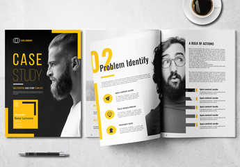 Case Study Layout with Yellow Accents