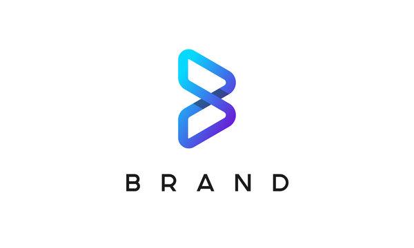 B Logo Design Template