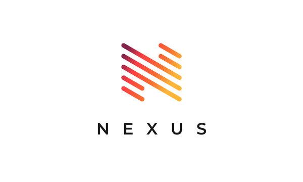 Nexus N Logo Simple Modern Letter N Design