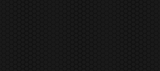 Spoed Fotobehang Kunstmatig Seamless hexagon pattern. Geometric ornament. Simple dark texture. Delicate vector background.