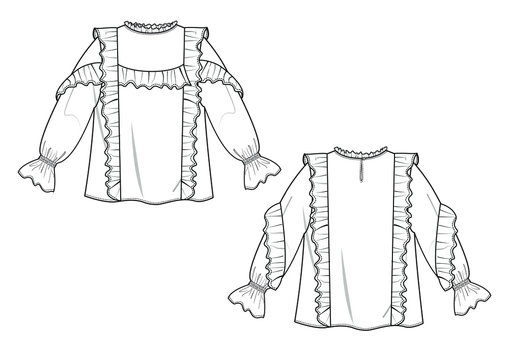 vector illustration of a womens fashion dress