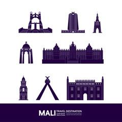 Wall Mural - Mali travel destination grand vector illustration.