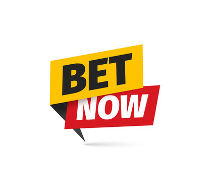 Bet now isolated vector icon. Sticker for gamble or sport betting.