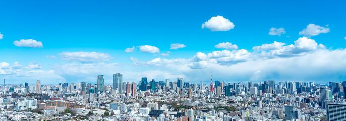 Foto auf AluDibond Blau 東京風景