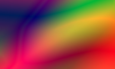 Abstract blurred gradient background in bright rainbow colors. Beautiful psychedelic art. Spectrum light texture. Vintage retro.