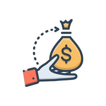 Color illustration icon for borrower