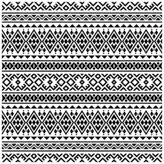 Door stickers Boho Style Tribal ethnic vector texture. Seamless striped pattern in Aztec style