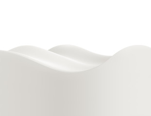 Flow milk close-up, 3D illustration