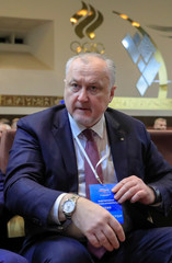 Head of Russian Anti-Doping Agency (RUSADA) Yuri Ganus attends a conference to elect a new president of Russia's athletics federation at the Olympic Committee building in Moscow