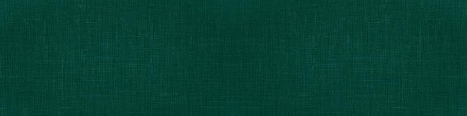 Dark green natural cotton linen textile texture background banner panorama