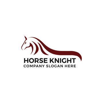 Horse knight logo vector