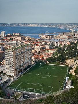 Stade de foot à Marseille