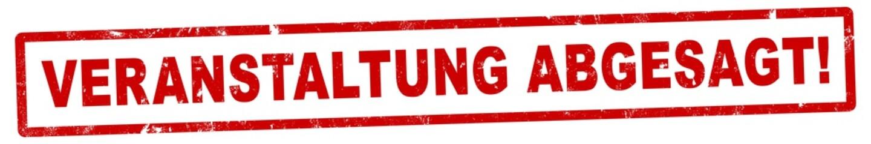 nlsb1291 NewLongStampBanner nlsb - german label / banner - deutsch - Stempel - Veranstaltung abgesagt! - Event - 6zu1 - xxl g9124 Fotomurales