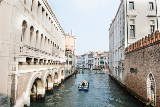 View of one of the canals in Dorsoduro district in Venice