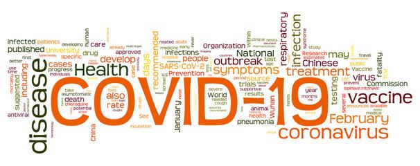 Covid 19 - Corona Virus Words Cloud - English