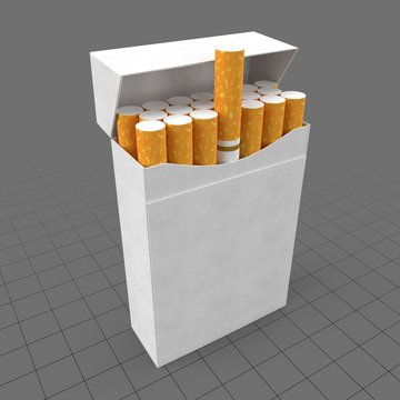 Open cigarette box