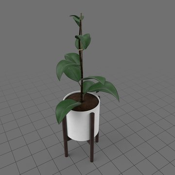 Mid century planter with stand