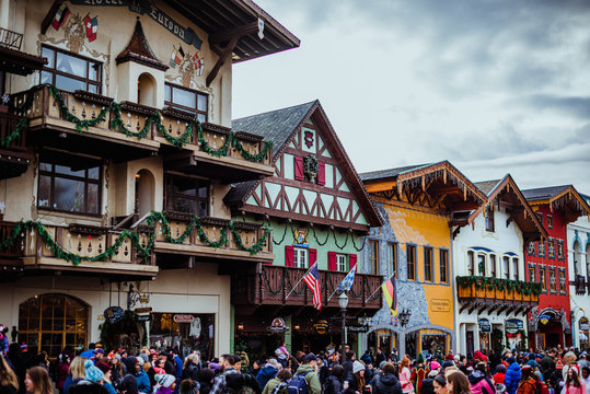 Streets of Leavenworth in December