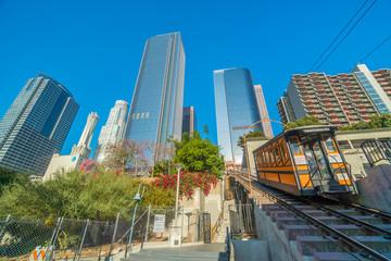 Fototapete - Angels Flight in Downtown LA., USA